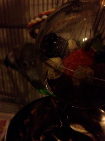 Mavi loves fruit.