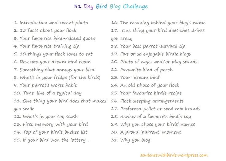 31DayBirdBlogChallenge