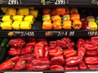 Bell peppers.
