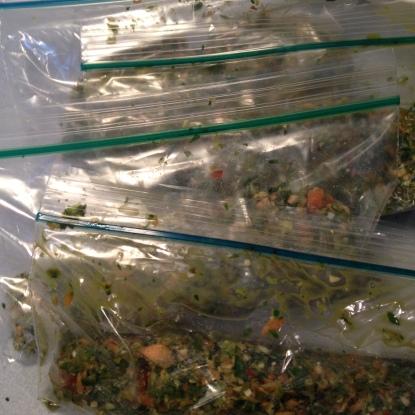 Plastic baggies work great, too. Investing in a vacuum packer may help.