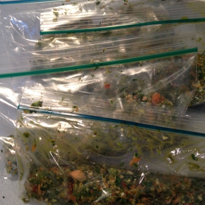 Plastic baggies work great, too. Investing in a vacuum packer may help.